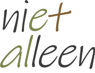 geschreven tekst: niet alleen in de kleuren van de site van Nijkleaster, waar dit beeldmerk is ontstaan